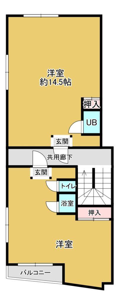 2階図面。現況と異なる場合があります(現況優先)(間取)