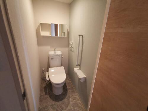 写真は棟内モデル住戸。トイレ