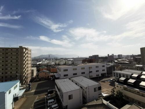 棟内モデル住戸(7階)バルコニーからの眺望です